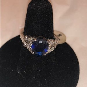 Sapphire cocktail ring size 8
